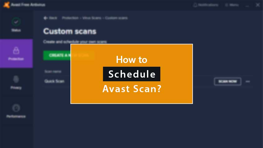 How To Schedule Avast Scan