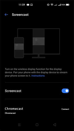 Connect Chromecast