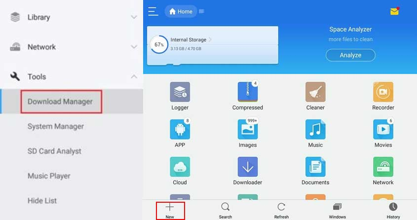 Es File Explorer Download Manager
