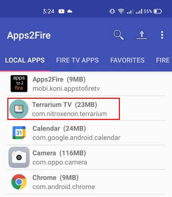 Search App From Apps2fire