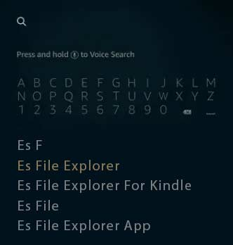 Search Es File Explorer