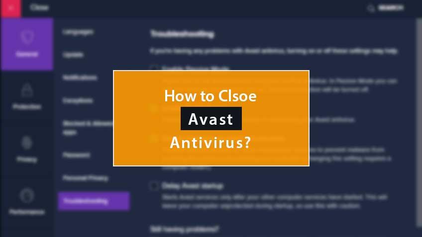 How To Close Avast Antivirus