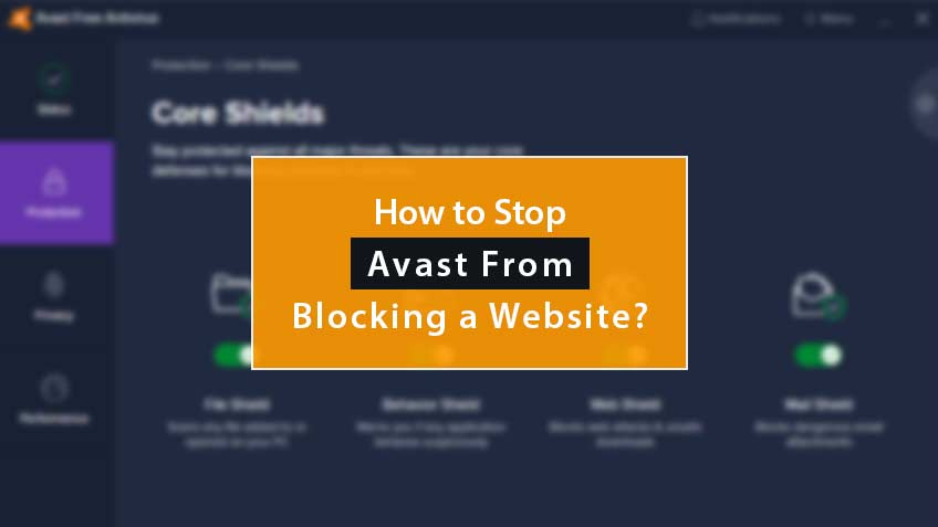 how to stop avast from blocking a website