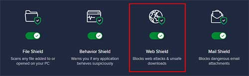 avast web shield