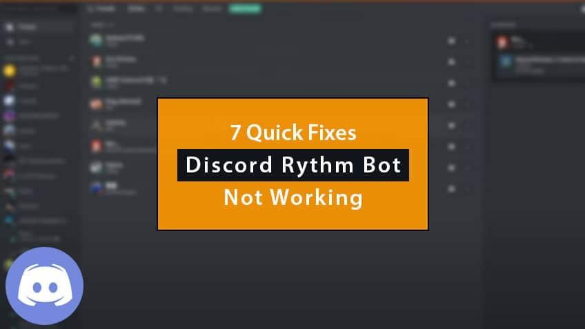 discord rythm bot not working